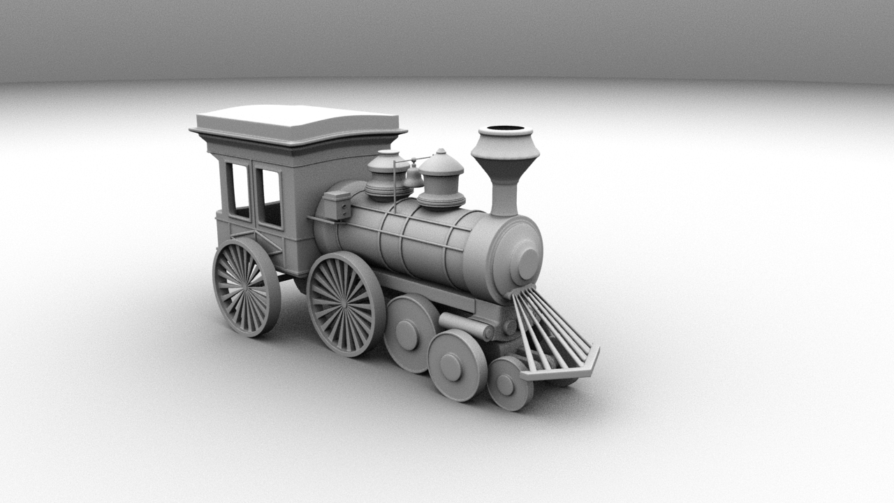 Cartoon Train Engine Modelling Using Maya 2017 My Works