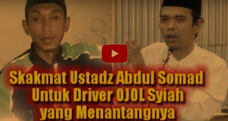 Skakmat Ust. Abdul Somad Untuk Pria Syiah yang  Menantang Debat & Menuduh Cela Ahlul Bait