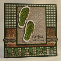 Our Daily Bread Designs, Walk with Jesus, Crocheted Border, Flip Flop, Christmas Paper Collection 2013, designed by Elizabeth Whisson