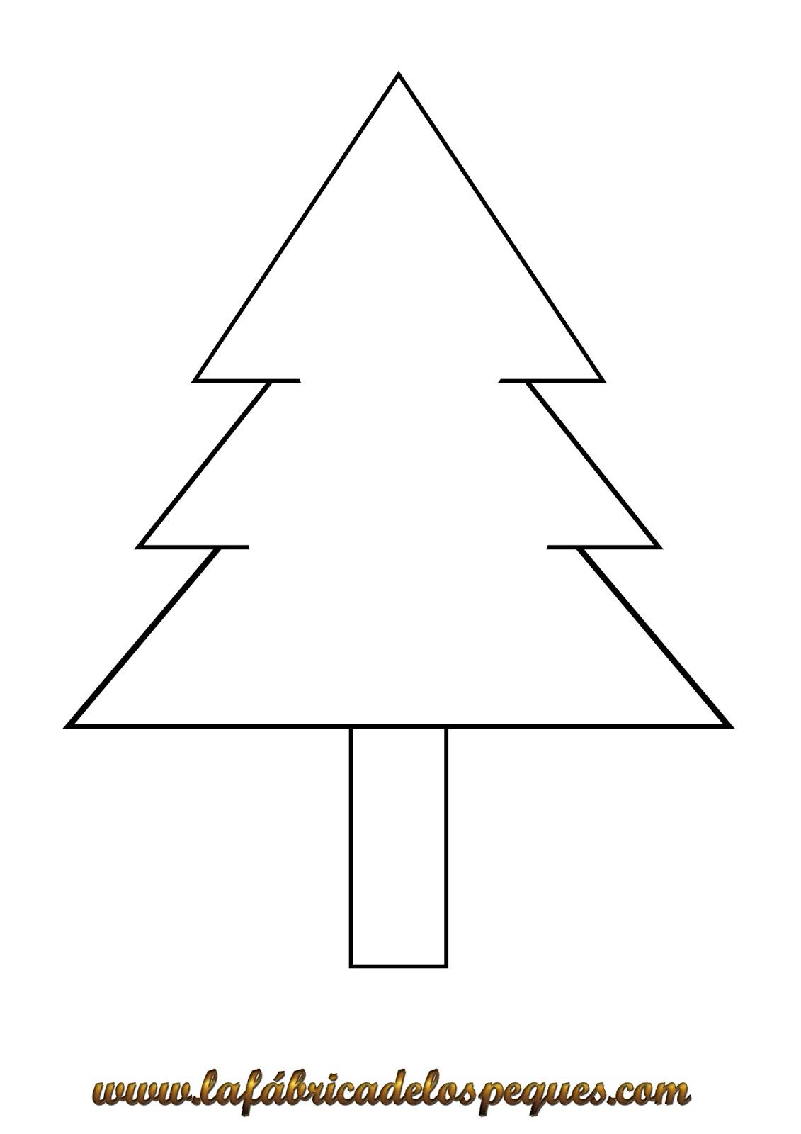 Arbol De Navidad Sencillo Para Colorear   Bernadettes