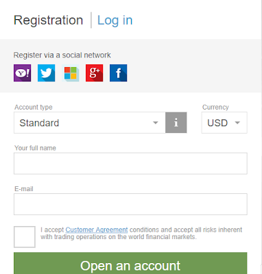 إدخال المعلومات المطلوبة للتسجيل