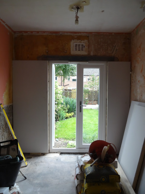 plasterboard around french door