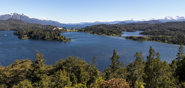 Views over Nahuel Huapi Lake in Bariloche Argentina