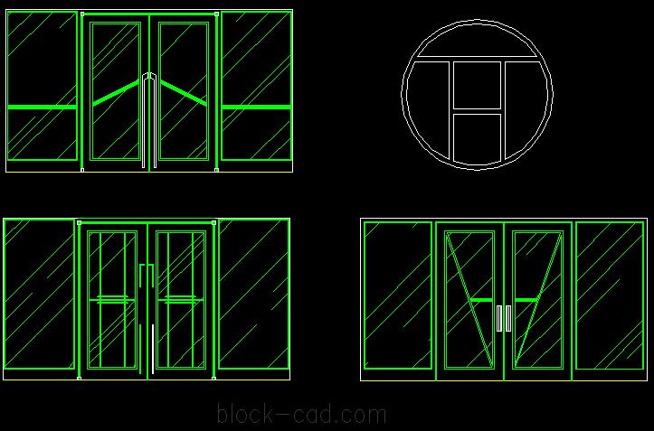 Beautiful round window drawing cad block free cad block for 12 round window