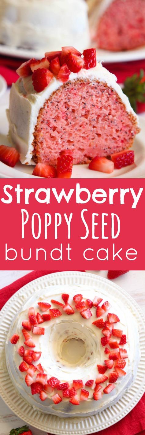 Eat Cake For Dinner: Strawberry Poppy Seed Bundt Cake