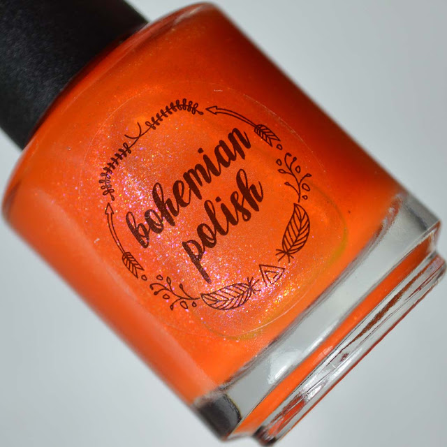 orange jelly nail polish with shimmer