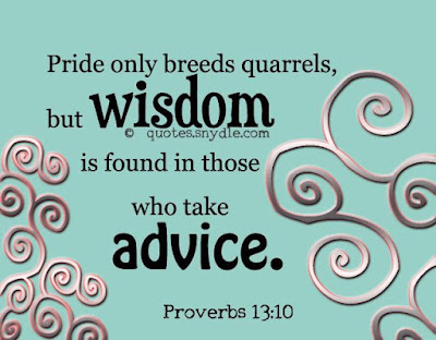 inspirational quotes  pride only breeds quarrels,