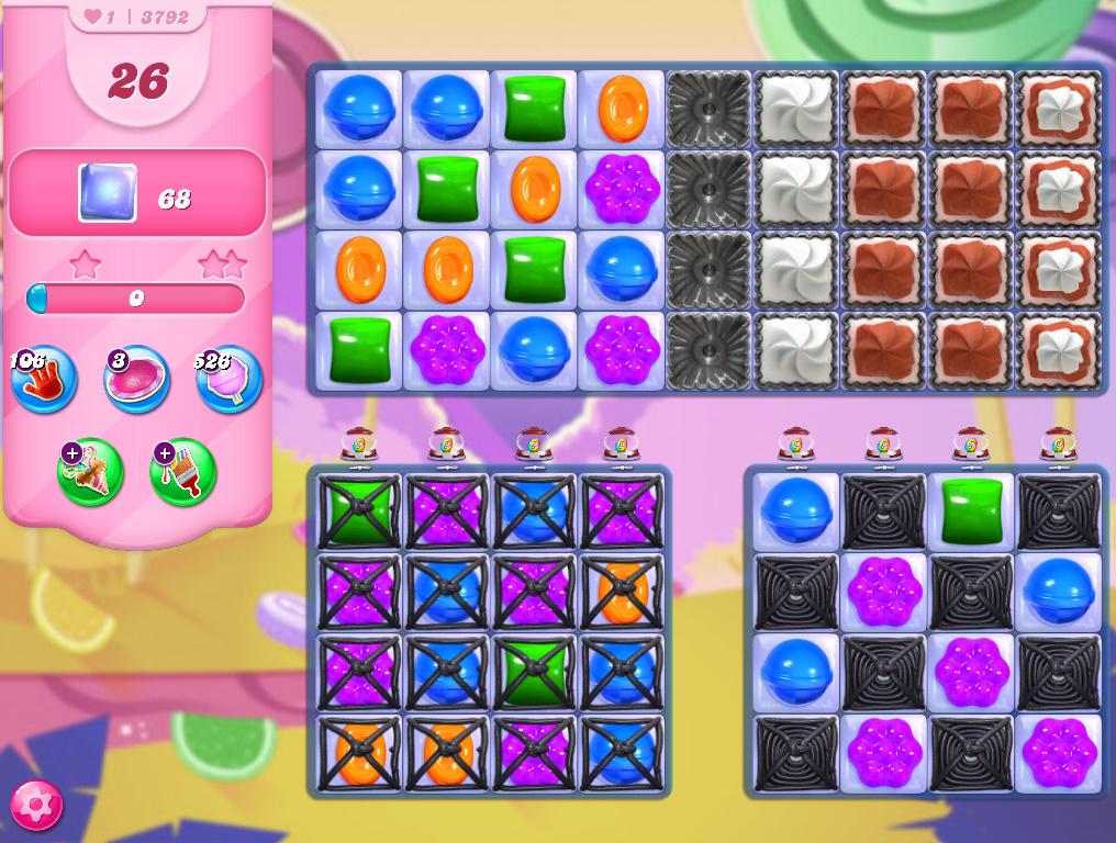 Candy Crush Saga level 3792