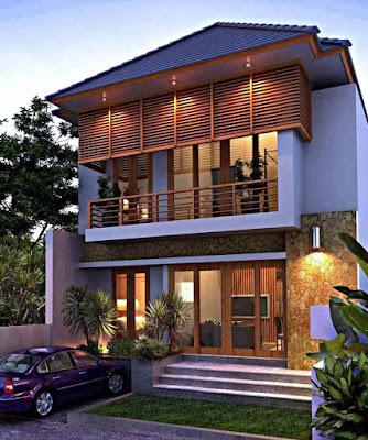 Model Desain Rumah Minimalis 2 Lantai Sederhana Kelihatan Mewah