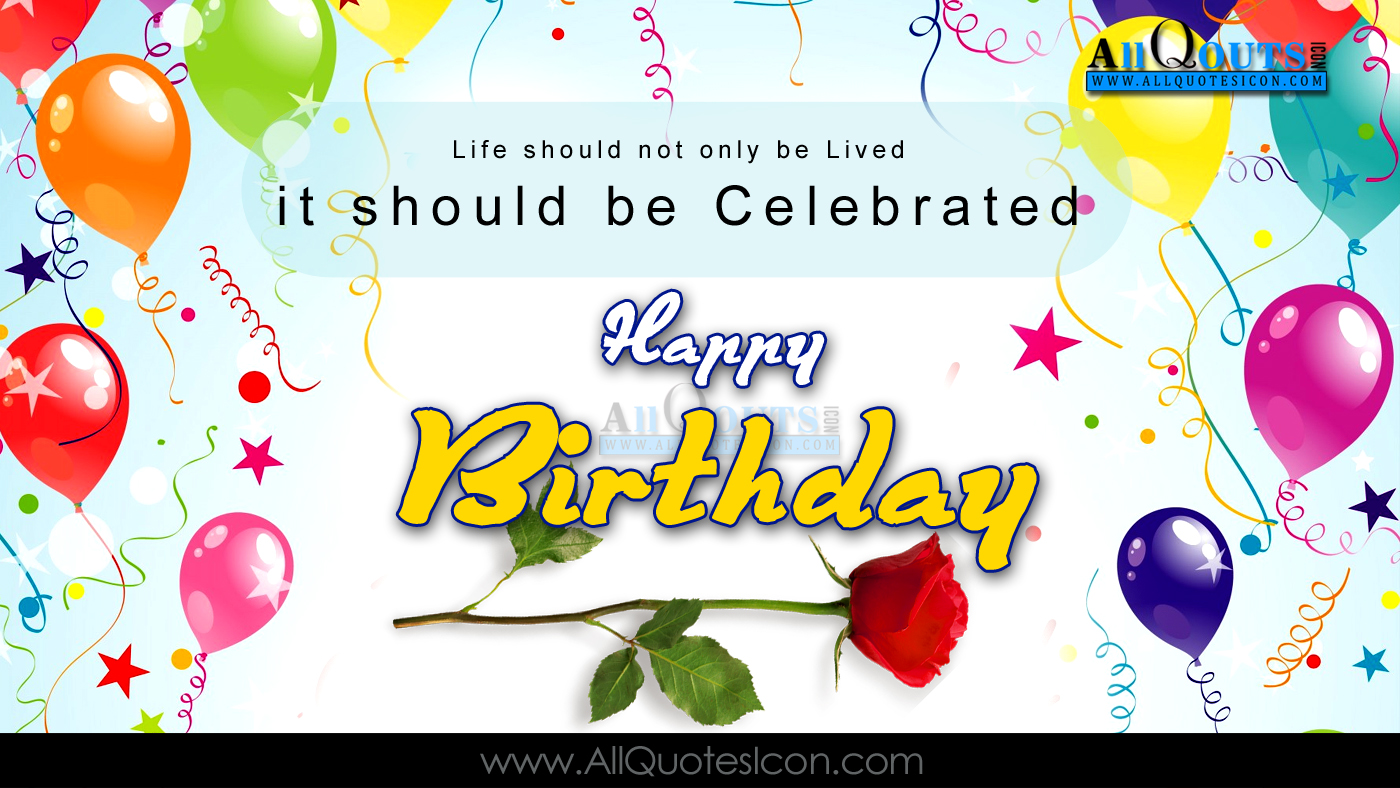 Happy Birthday Quotes English ~ Happy birthday images best greetings english quotes pictures messages sms online