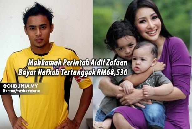 Mahkamah Perintah Aidil Zafuan Bayar Nafkah Tertunggak RM68,530