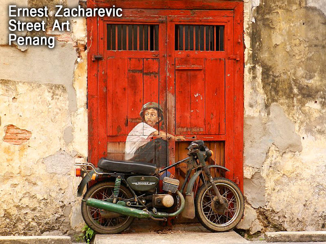 Ernest Zacharevic Street Art Painting Penang