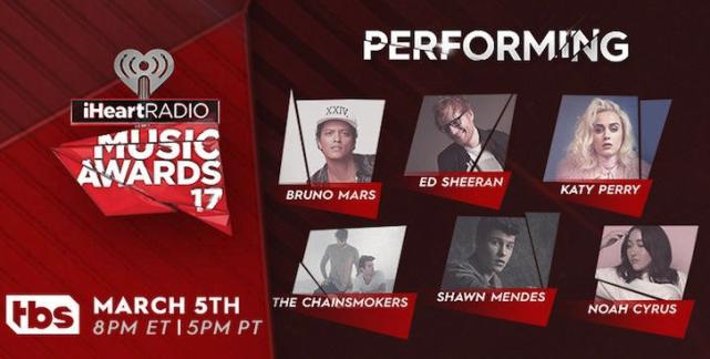 Presentaciones confirmaciones para los iHeartRadio Music Awards 2017