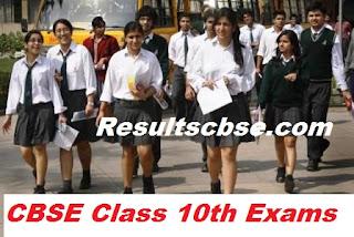 cbse class 10 date sheet 2017