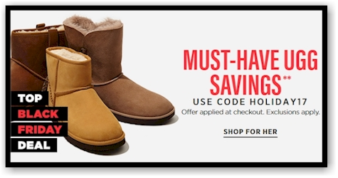 bas prix 26dbb 390fe Daily Cheapskate: FANTASTIC BLACK FRIDAY DEAL on UGGs at ...