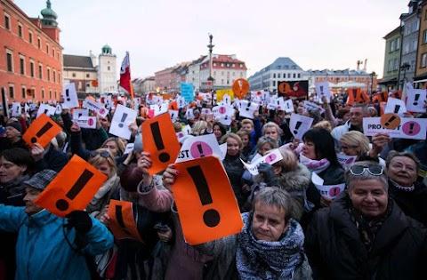 Varsóban ismét tüntettek a pedagógusok