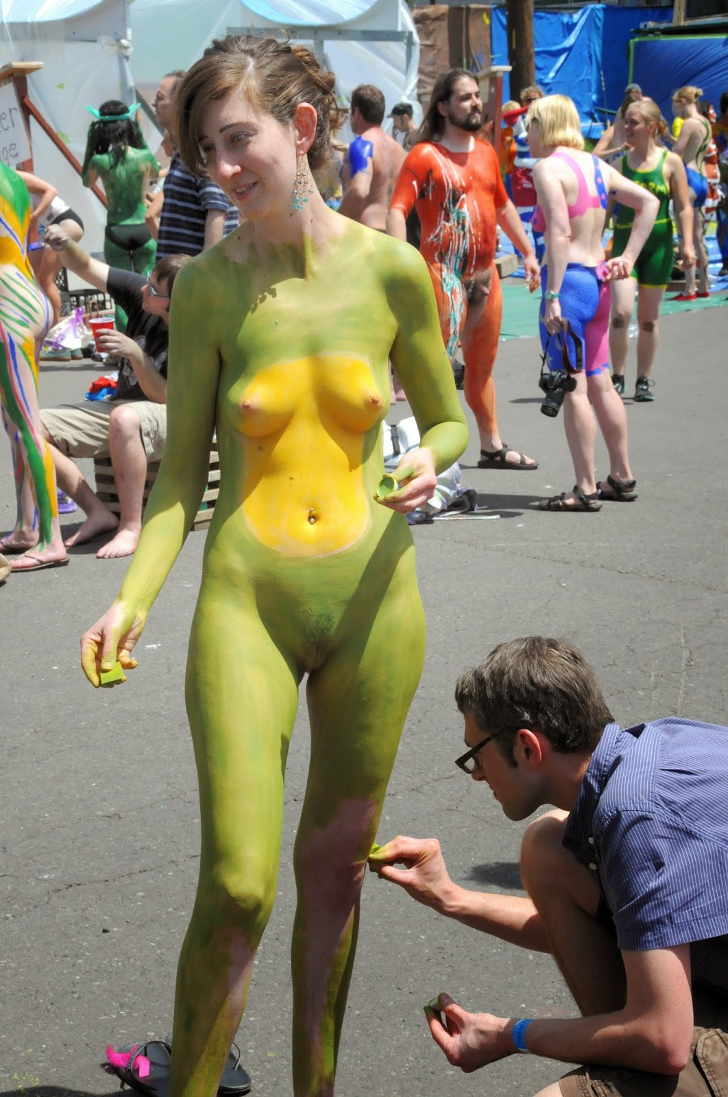 Congratulate, very nude women body paint public sorry