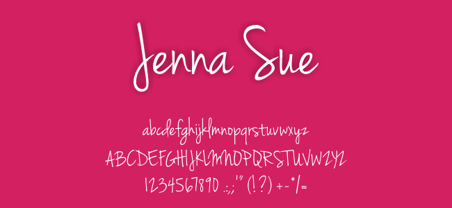 Kumpulan Font Undangan - Jenna Sue Font