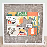 Letting papers speak for themselves in cardmaking by Kim Dellow