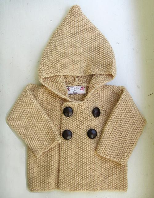 Seed Stitch Baby Jacket - Free Pattern