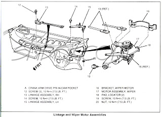 Wiper Motor on Dodge Dakota Convertible 1990
