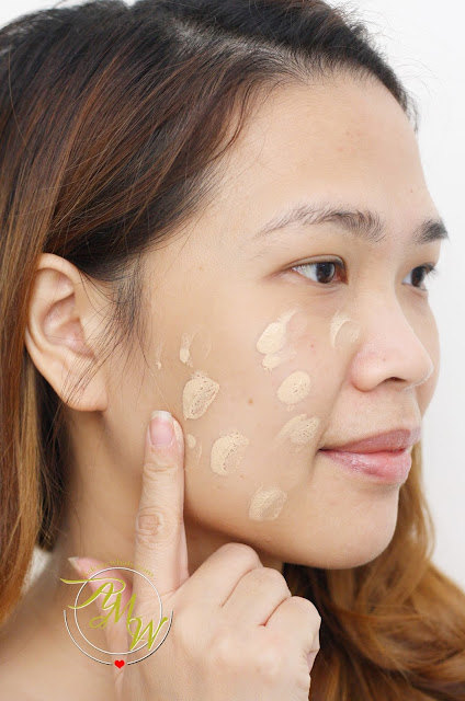 a photo of how to use Kate Tokyo Mineral Mask BB Cream