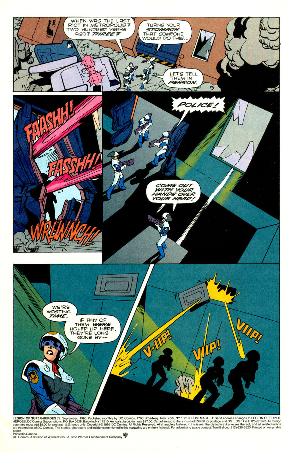 Legion of Super-Heroes (1989) 72 Page 1