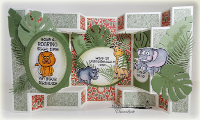 North Coast Creations Stamps & Dies: Go Wild, ODBD Paper Collection: Beautiful Boho, ODBD Custom Dies: Double Display Card, Double Display Layers, Pierced Ovals, Ferns, Tropical Leaves