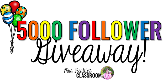 I'm thrilled to have recently surpassed 5000 followers in my Teachers Pay Teachers store!! Come and celebrate with me!