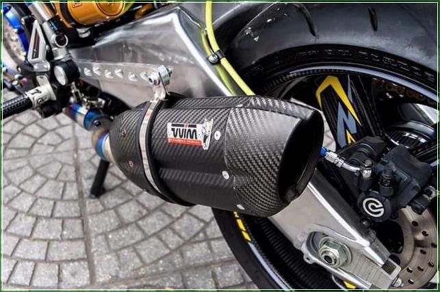 Knalpot Mufler gas Buang Dari MIVV - Tip Modifikasi Yamaha Jupiter MX King Exciter Gaya Balap MOTO GP Sporti Keren Abis