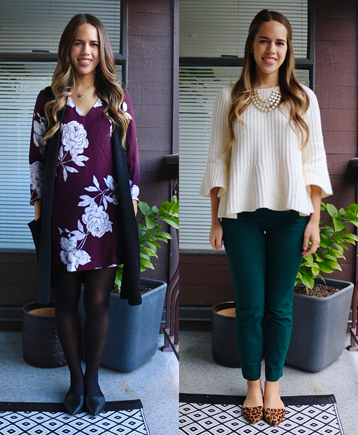 Jules in Flats - What to Wear to Work in November