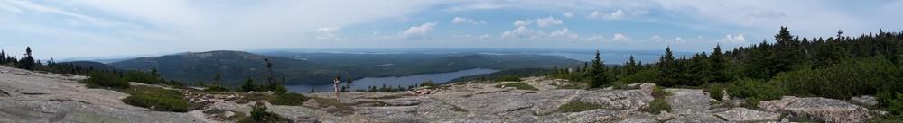 En haut des Cadillac Mountains Acadia National Park