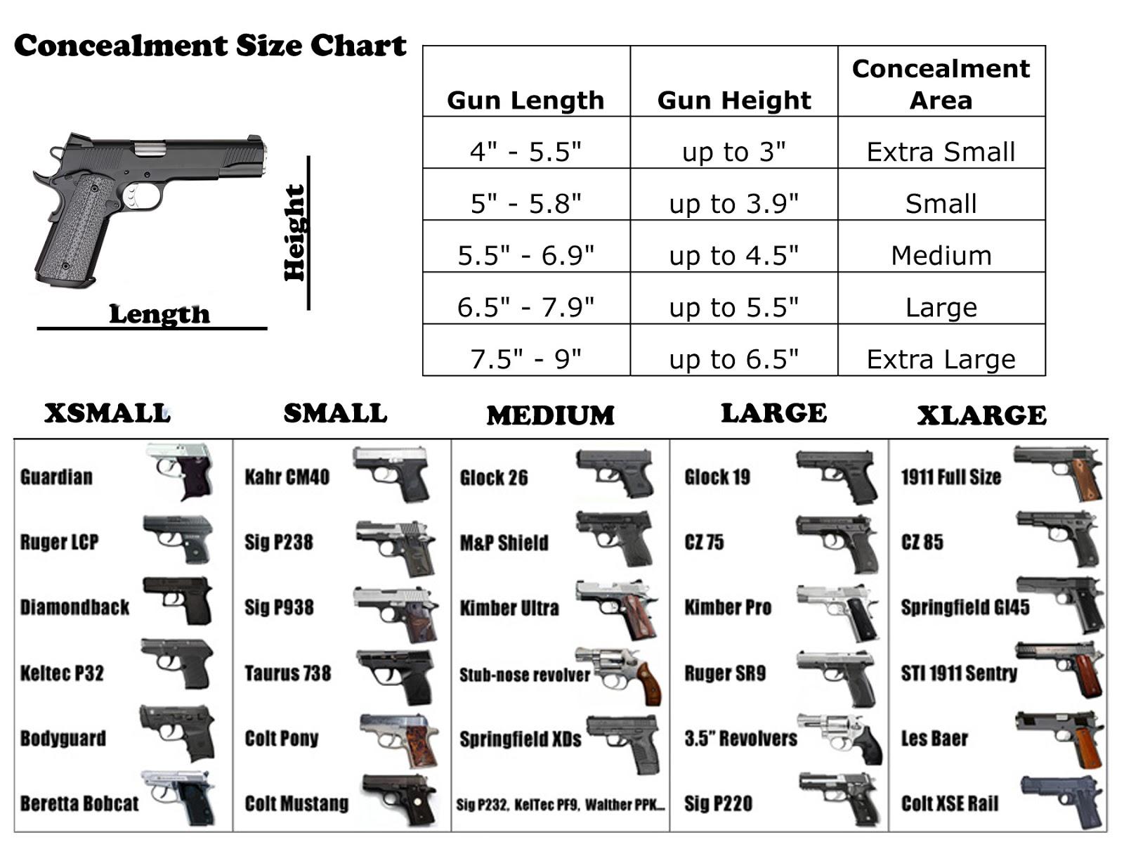 Ammo and gun collector handgun and pistol concealment size