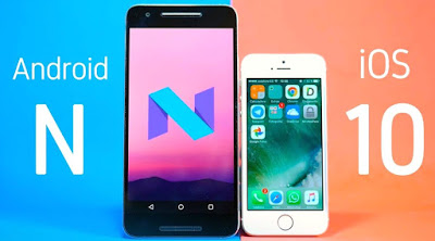 ios 10 vs android nougat 7.0
