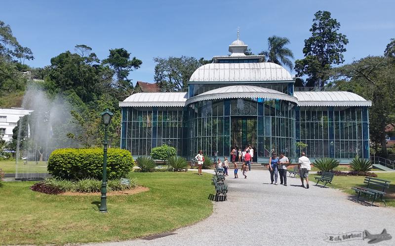 Palácio de Cristal, em Petrópolis, Caminho Novo, Estrada Real