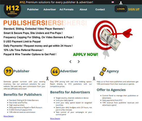 h12 Media Ads for Malaysian Blogger Generate Income