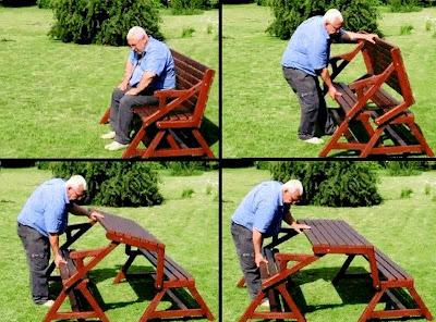 Rekaan Moden Kerusi & Meja yang Kreatif - kerusi meja taman