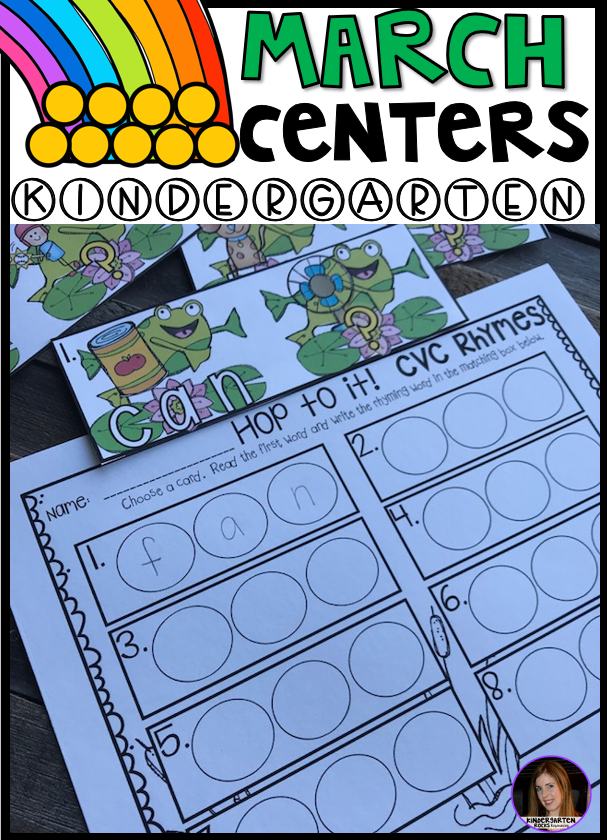 Spring into March Math and Literacy Centers for Kindergarten - My Blog