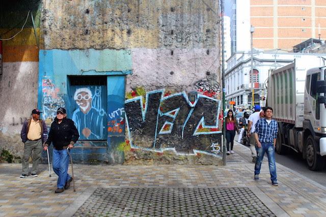 Historical centre in Bogota, Colombia