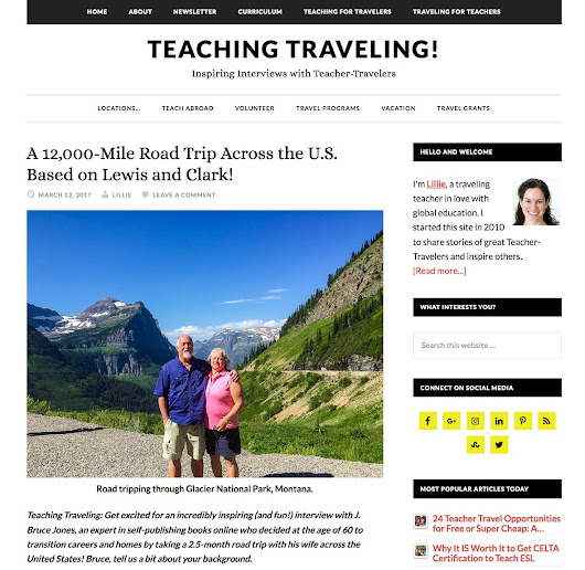 Our Cross Country Journey Featured on Teaching Traveling! Blog