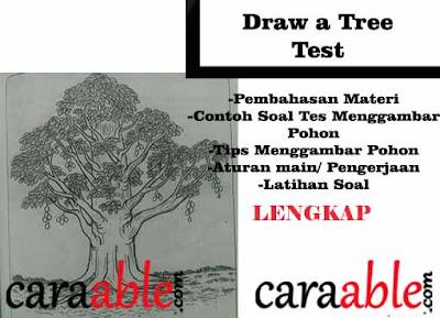 Membongkar rahasia Tes Psikotes Menggambar phon / Draw a Tree Test dengan contoh dan pembahasannya