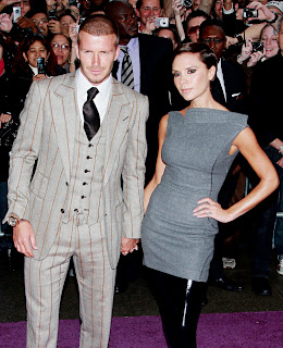 stylish victoria with david beckham