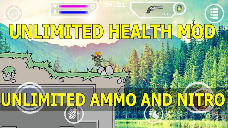 mini militia unlimited health mod apk and unlimited bullets