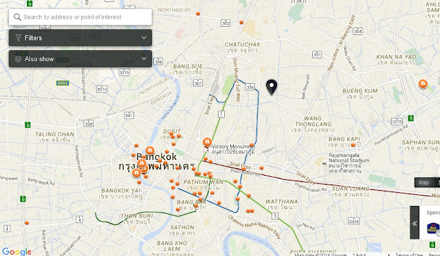 Wat Lat Phrao Bangkok Map,Map of Wat Lat Phrao Bangkok,Tourist Attractions in Bangkok Thailand,Things to do in Bangkok Thailand,Wat Lat Phrao Bangkok accommodation destinations attractions hotels map reviews photos pictures