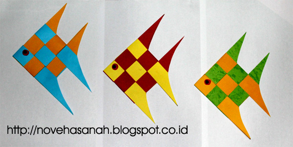 Prakarya untuk SD dari Kertas Bekas : Ikan Penghias Kelas