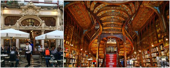 Libreria Lello y cafe Majestic en Oporto