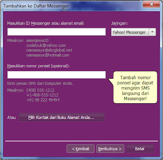 add contact yahoo messengger