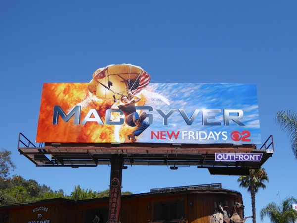 MacGyver TV reboot billboard