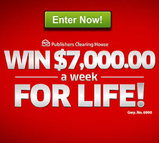Giveaway No.6900 $7000 a Week for Life