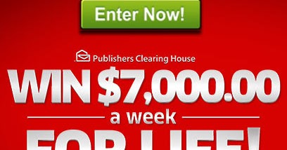 how do you enter publishers clearing house sweepstakes house of sweepstakes pch com 7 000 a week for life 3822
